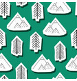 trees and mountains seamless pattern vector image vector image