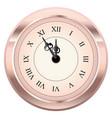 vintage clock design vector image vector image