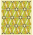 vintage pear background vector image vector image