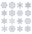 vintage snowflake set in zentangle style 16 vector image vector image