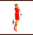 young fashionable girl woman abstraction i love vector image