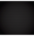 Black background of carbon fibre texture vector image