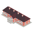 building private school isometrics brown roof vector image