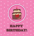 Birthday design over pink background vector image