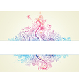 abstract hand drawn floral background vector image vector image