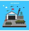 Army Weekdays vector image vector image