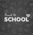 back to school background with hand written text vector image vector image
