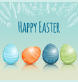 beautiful easter card with colored easter eggs vector image vector image