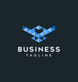 bird digital logo design inspiration vector image