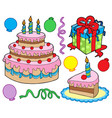 birthday party collection 1b vector image vector image