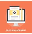 Blog Management vector image