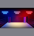 boxer knocking out at boxing ring arena and vector image vector image