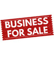 business for sale sign or stamp vector image vector image