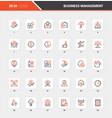 business management flat line web icon concepts vector image vector image