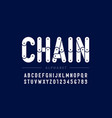 chain style font design vector image vector image