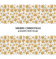 christmas card with fir cones and baubles vector image