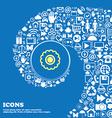 cogwheel sign symbol Nice set of beautiful icons vector image vector image