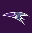 crow head mascot vector image