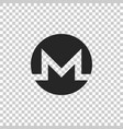 cryptocurrency coin monero xmr icon isolated vector image vector image
