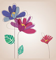 cute flowers background in vivid colors vector image