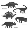 cute young dinosaurs isolated on white vector image