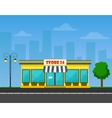 detailed Shop or store or market on vector image vector image