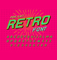 disco font for posters comic retro alphabet vector image