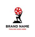 entertainment logo design vector image vector image
