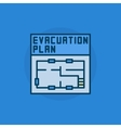 Evacuation plan flat icon vector image