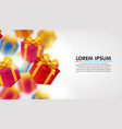 explosion presents light background vector image