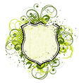 floral shield vector image vector image