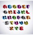 font typescript created in 8 bit style pixel art vector image vector image