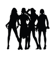 girl black silhouette vector image