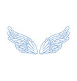 gorgeous minimalistic angel wings vector image vector image
