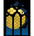 Gothic Window and Moon vector image vector image