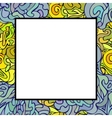 hand drawn doodle art frame