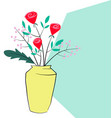 hand drawn roses and flower decorate vector image vector image