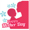 happy womens day mom hold son red shadow white bac vector image vector image