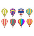 hot air balloon colored aircraft transport with vector image