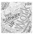 Is It Worth Buying Affiliate Software Word Cloud vector image vector image