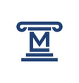 law pillar initial m lettermark symbol graphic vector image