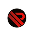 letter r icon logo vector image