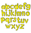 Letters of the alphabet in yellow colors vector image vector image