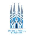 line art sagrada familia barcelona famous spain vector image