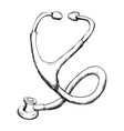 medical stethoscope to check cardiac heartbeat vector image vector image