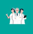 medical worker team set vector image