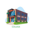 modern college building education architecture vector image vector image