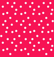 modern red polka background seamless pattern vector image vector image