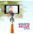 Monopod Selfie vector image vector image