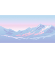 mountains in the morning vector image vector image
